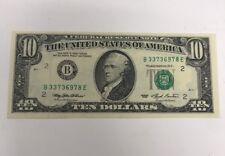 1993 Federal Reserve Note $10 B New York, New York