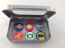 DC Comic Heroes Magnet Gift Set With Tin, Incl Superman, Batman. Stocking Filler