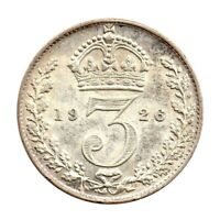 KM# 827 - Threepence - 3d - George V - Great Britain 1926 (EF)