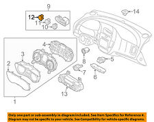 KIA OEM 14-16 Forte Koup Dash Cluster Switch-Blank Cover 93755A7000WK