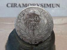 CIRA(47)(7) - 20 CENT - NAPOLEON III - ARGENT - 1860/50 BB - RARE VARIANTE !