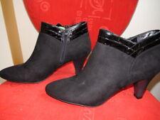 East 5th Memory Foam Ladies Booties size 10M Black Solid Textile Upper 3 in heel