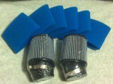 """2- 4"""" Tall Air Filter & 6 Foam Filter Covers Clone Briggs 212cc Predator Hemi"""