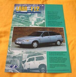 Lada 112 Prospekt Brochure Depliant Catalogue 2000 Avtovaz