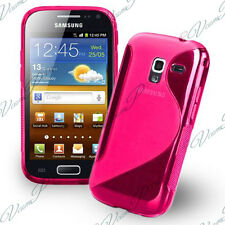 COQUE ETUI HOUSSE TPU S SILICONE GEL ROSE + FILM POUR SAMSUNG GALAXY ACE 2 I8160