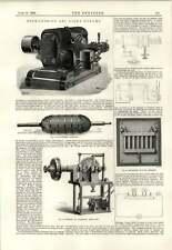 1893 haute tension Arc Lumière Dynamo Automatique Régulateur Câbles électriques