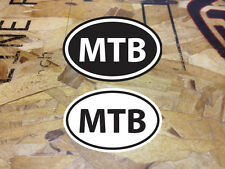 MTB Mountain Bike sticker decal Black & White - 2 for 1