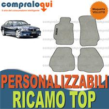 per BMW SERIE 3 E36 COUPE' TAPPETINI per AUTO in VELLUTO BEIGE + RICAMO TOP