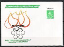 ESPAÑA SOBRE ENT.POST.1995 27A ACONTECIMIENTOS FILATELICOS 1995 OLÍMPICOS PLATA