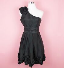 Daisy Cocktail Dresses One Shoulder Party Black Dresses for Women LBD Size Large