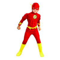 Flash Costume Kids Boys Child Youth Toddler Deluxe Muscle Chest Jumpsuit