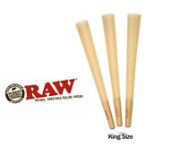 RAW Cones King Size Authentic Pre-Rolled Cones w/ Filter (200 Pack)