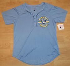 271cc9306f1 Milwaukee Brewers Vintage Logo Baseball Jersey Women s size Large
