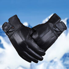 Mens Winter Gloves Genuine Leather Warm Thermal Lined Driving Windproof Black US