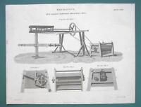 FARMING Portable Threshing Mill - 1820 ABRAHAM REES Print