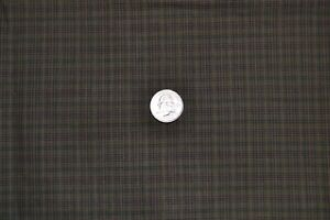 """Cotton quilting fabric 36"""" x 2.9 yards, vintage plaid in black & brown"""