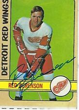 RED BERENSON SIGNED 1972-73 TOPPS #95 -  DETROIT RED WINGS