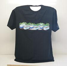 VW Combi Van Island Cruise Hawaii Graphic Print T-Shirt Size L 100% Cotton