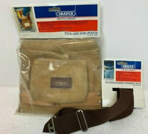 Draper Tool And Nail Pouch With Webbing Belt New C12