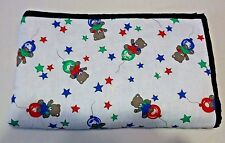 Handmade Hand-Tied Teddy Bear Star Quilt Lap Throw Wall Hanging Crib 52 X 45