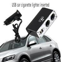 Dual USB Ports Car Cigarette Lighter Power Socket Charger Adapter Splitter @l