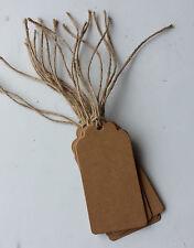 20 etiquetas de regalo artesanal marrón con cadena de equipaje Marrón Rústico Natural Reciclado