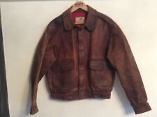 RARE CIRRUS A2 LEATHER FLIGHT FLYING JACKET,BROWN LARGE,AVIATION BOMBER