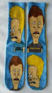 Custom Beavis and Butthead dry Fit socks gamma laney X XII Fighter bred