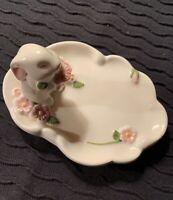 Avon Bunny Ceramic Trinket Dish - 1985