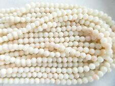 """16"""" Strand Natural Blush Pink Angel Coral Beads 5mm Round - Approx. 80 Beads"""