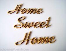 Home Sweet Home Buchstaben Schriftzug Holz Basteln Gestalten Deko Shabby