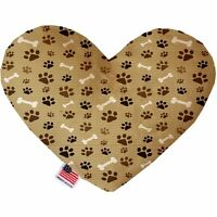 Mocha Paws and Bones 6 inch Heart Dog Toy
