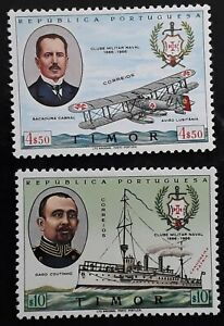 1967 Timor set of 2 40th Anniversary of the Navy Club stamps Mint