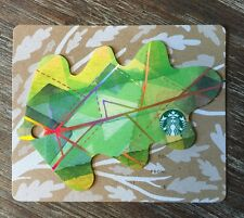 Starbucks Gift Card Fall Leaf Keychain Light Green