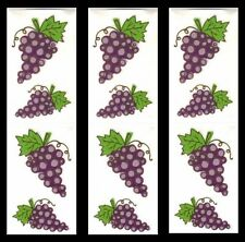 *Grapes* Mrs Grossman's Reflection Stickers 3 Sheets ~ 12 Individual Mods Wine