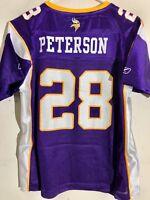 Reebok Women s NFL Jersey Minnesota Vikings Adrian Peterson Purple sz L 26e820c91