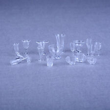 17pcs Dollhouse Miniature Ice Cream Cups Set Toy Kitchen Dining-Room Clear XL