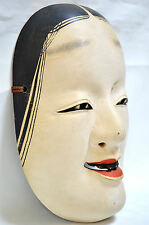 Wooden! Japanese Traditional Noh Mask WAKA-ONNA Demon Kagura Kabuki Samurai
