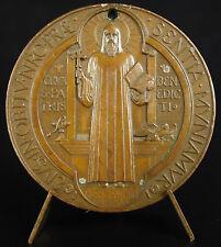 Médaille saint Benoît Benedict  c1800 pour exorcismes contre cheval Mallet medal