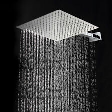 "Heavy Ultra Rain Shower 8 by 8 inch with 15"" Square Arm (S.S 304)Stainless Steel"
