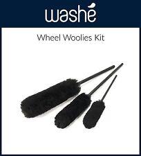 Wheel Woolies 3 Piece Kit Wheel Cleaning Soft Brush Kit Car Rim Cleaning Woolies