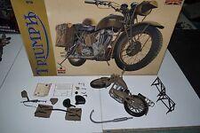 70'S VINTAGE ESCI TRIUMPH 3 HW MOTORCYCLE MODEL KIT 1/9 #7004