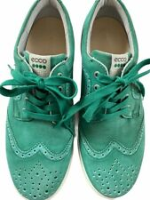 Mens ECCO Green Wing Tip Stylish Sneaker Shoes Extra Width Size 42