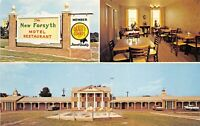 Forsyth Georgia GA 1950s Postcard New Forsyth Hotel