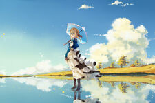 "Violet Evergarden Anime Girls 17"" x 11"" Large Wall Poster Print Fan Art Anime"