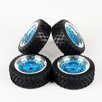 4PCS 12mm Hex Rally Rubber Tyre Tires&Wheel Rim For HPI HSP 1:10 RC Model Car
