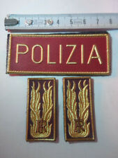 lotto mostrine scritta  patch distintivo fregio scudetto polizia di stato ps
