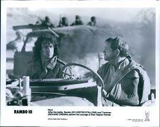 1988 Photo Actor Sylvester Stallone Rambo Iii Richard Crenna Jeep 8X10