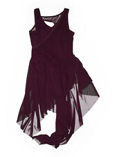 Girl Balera Eggplant Purple D9723 Asymmetric Lyrical Dance Dress Costume Size LC
