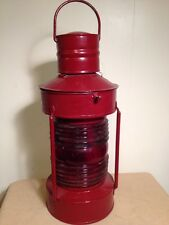 Vintage Ships Lantern Red Complete 7-1/2x20 Inch Tall